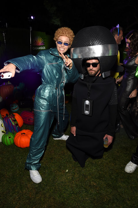 Halloween dos famosos Jessica Biel e Justin Timberlake