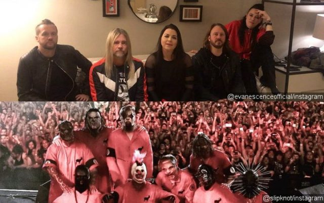 Slipknot junto com Evanescence
