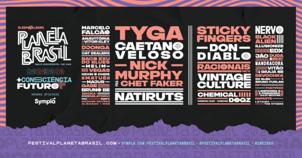 Festival Planeta Brasil 2020 Lineup