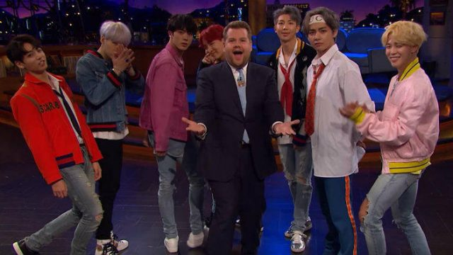 BTS no The Late, Late Show