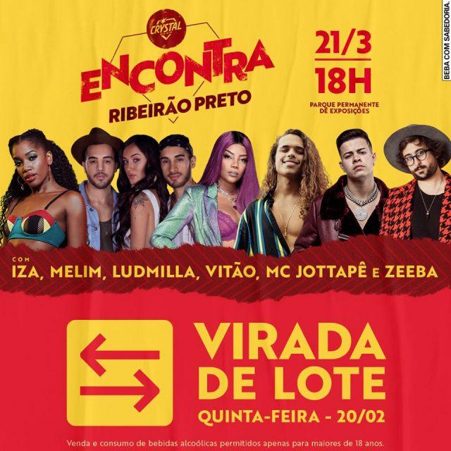 Crystal Encontra Ribeirão Preto 2020 atrações