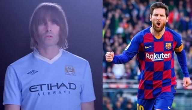 Liam Gallagher quer Messi no City