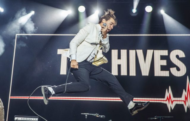 MADRID, SPAIN - JULY 11: Pelle Almqvist of The Hives performs on stage at Madcool Festival on July 11, 2019 in Madrid, Spain. (Photo by Javier Bragado/WireImage)