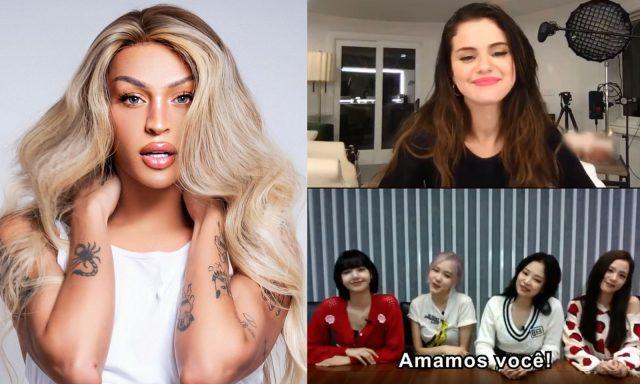 Pabllo Vittar recebe mensagem em vídeo de Selena Gomez e BLACKPINK!