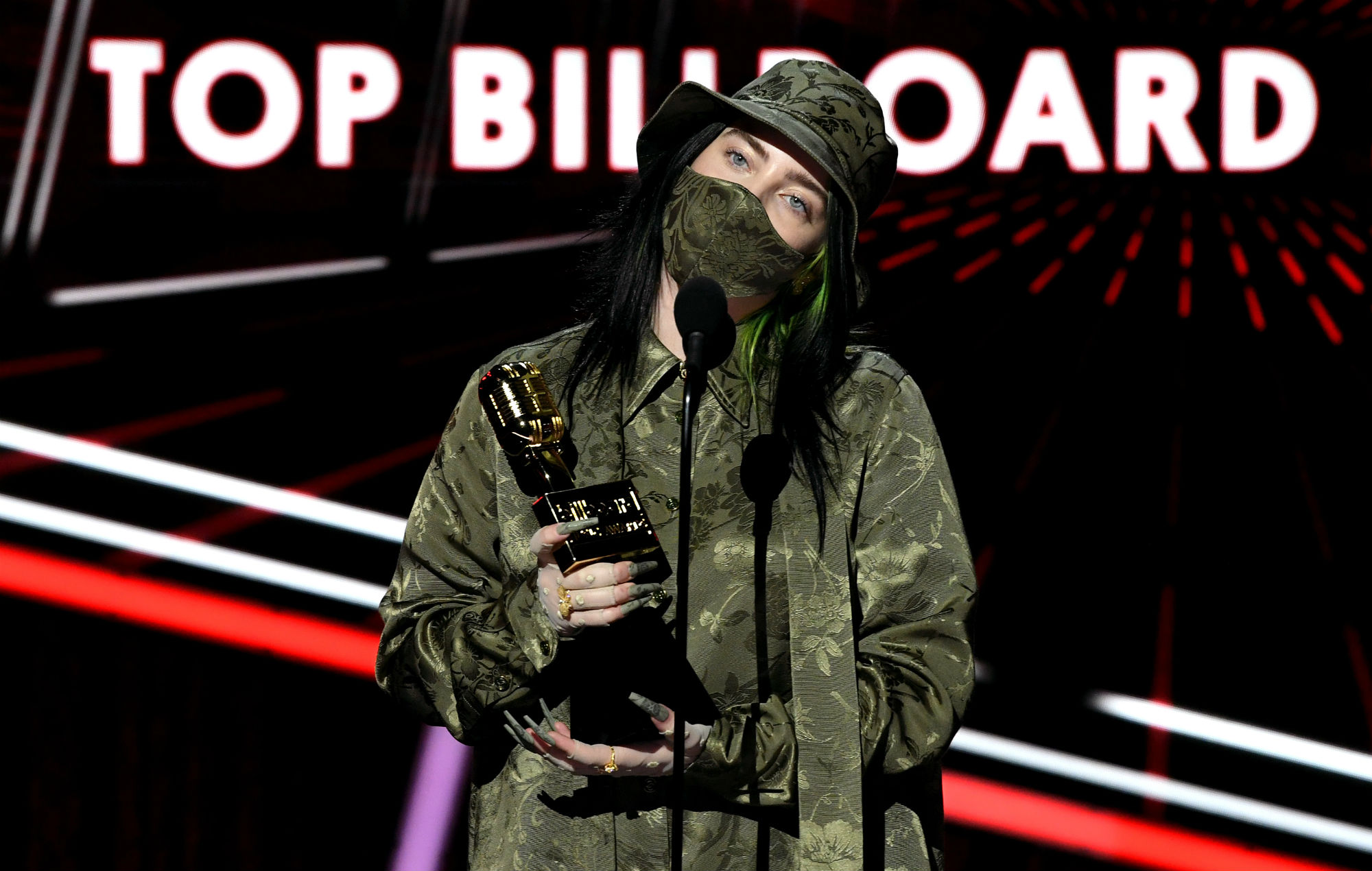 Billie Eilish at the 2020 Billboard Music Awards (Picture: Getty)