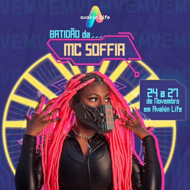 MC Soffia realiza show online no jogo Avakin Life