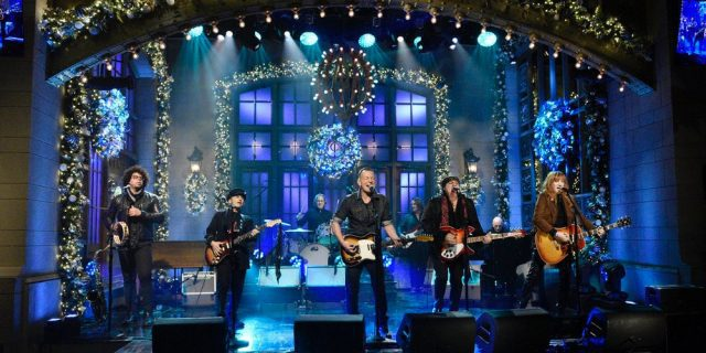 Bruce Springsteen & The E Street Band on Saturday Night Live, December 2020 (Will Heath/NBC)