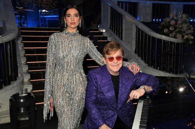 Dua Lipa e Elton John. Foto: Divulgação.